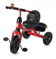 czerwony rowerek trójkołowy